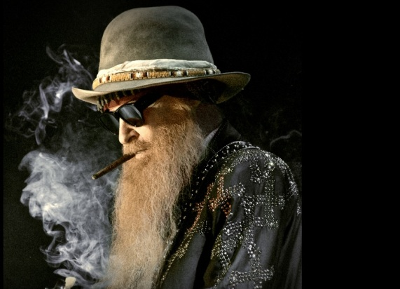 Billy F Gibbons, guitarist of ZZT op